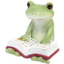 画像1: Copeau 本を読むカエル