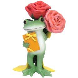 画像1: Copeau ミドル バラとプレゼントを持つカエル