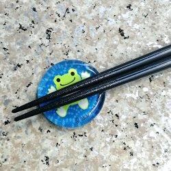 画像3: ピクルス ガラス箸置き 青海波