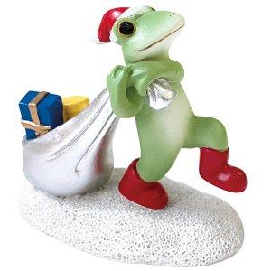 画像: Copeau プレゼントを運ぶサンタカエル
